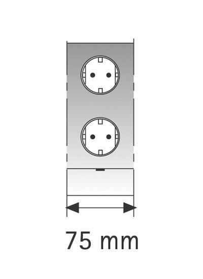Futura Plus EE S/ST, Schalter/Steckdose, 75mm