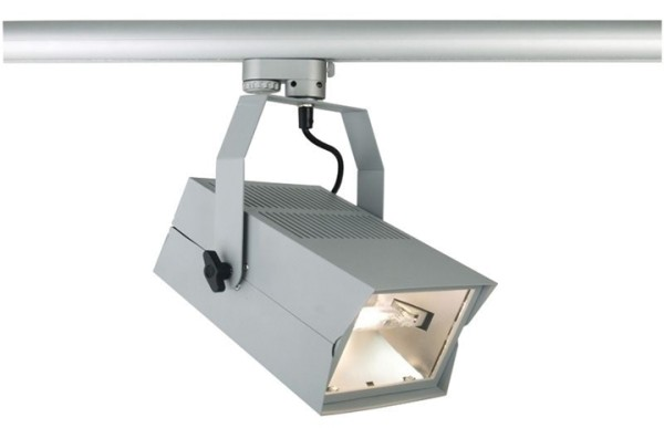 Kapego Schienensystem 3-Phasen 230V, Sencillo, exklusive Leuchtmittel, Silber-matt, Anzahl Sockel: 1