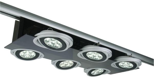 3-phasen Spot Parasol III 6 x AR111 LED