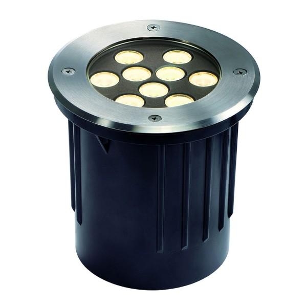 DASAR 9x1W LED Bodeneinbaustrahler, Edelstahl 304 gebürstet, 3000K, IP67