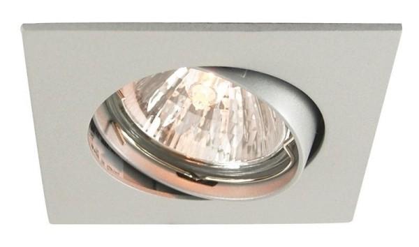 Deko-Light Deckeneinbauring, Aluminium Druckguss, silberfarben matt, 50W, 12V, 82x82mm