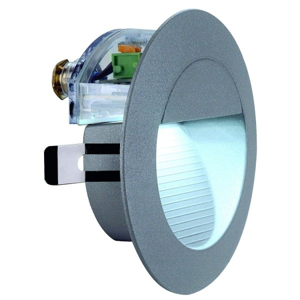 DOWNUNDER LED 14 Wandleuchte, steingrau, 0,8W, weiss, IP44