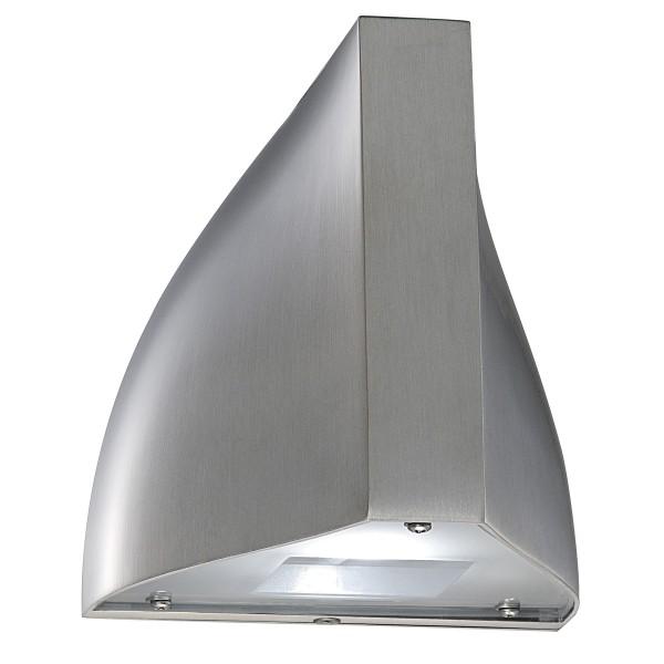TENDA, Outdoor Wandleuchte, LED, 6500K, IP44, aluminium gebürstet, 8,4W
