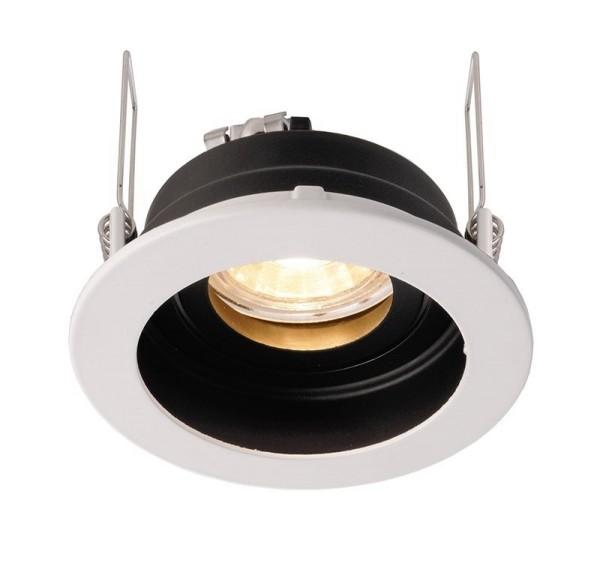Deko-Light Deckeneinbauring, Enif, Aluminium Druckguss, schwarz / weiß, 35W, 12V