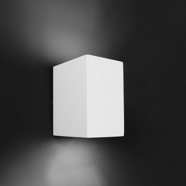 Deko-Light Wandaufbauleuchte, Giorgia, Gips, weiß überstreichbar, 25W, 230V, 70x100mm