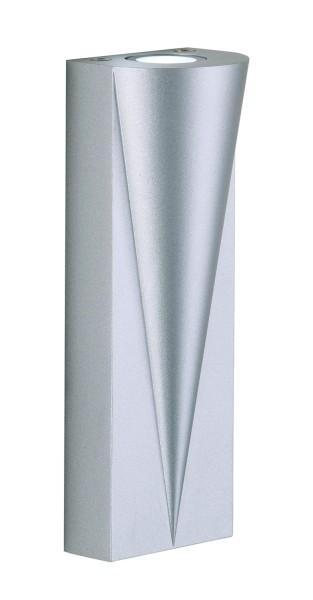 Outdoorwandleuchte Archer LED, 5 Watt, matt silber