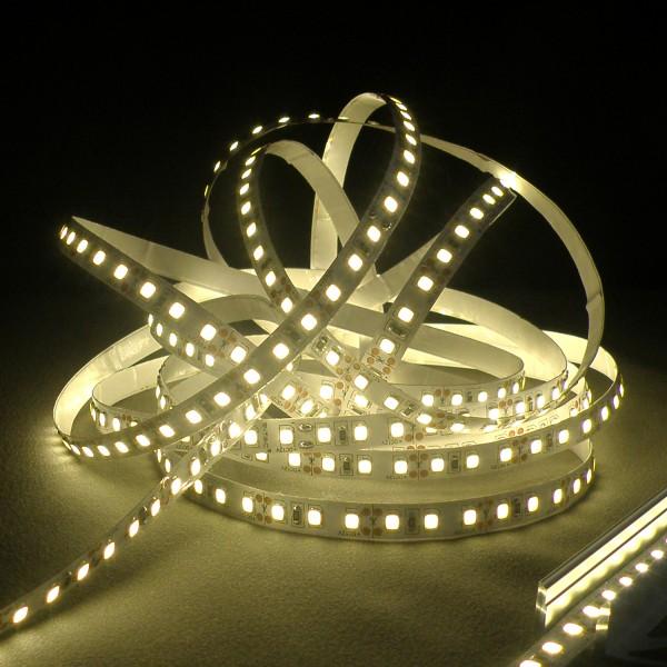 Flexibler LED Strip, 5m, 3528, 8mm, SMD, Warmweiß, 12V DC, 7,20 W/m