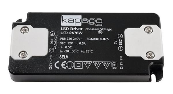 Deko-Light Netzgerät, FLAT, UT12V/6W, Kunststoff, Schwarz, 6W, 12V, 98x46mm