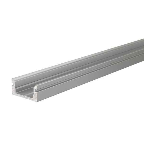 Reprofil, U-Profil flach AU-01-08 für LED Stripes bis 9,3 mm, Silber-matt, eloxiert, 1000 mm