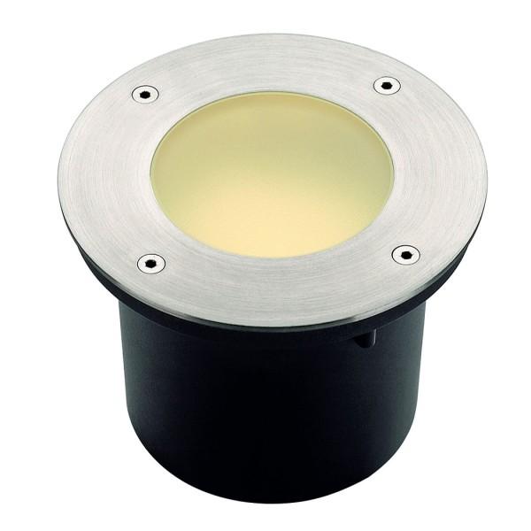 WETSY Aussenleuchte, rund, Edelstahl 316, GX53, max. 9W ESL, rundes Glas, IP67