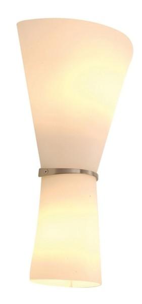 Deko-Light Wandaufbauleuchte, Rosado, Glas, weiß, 40W, 230V, 250x125mm