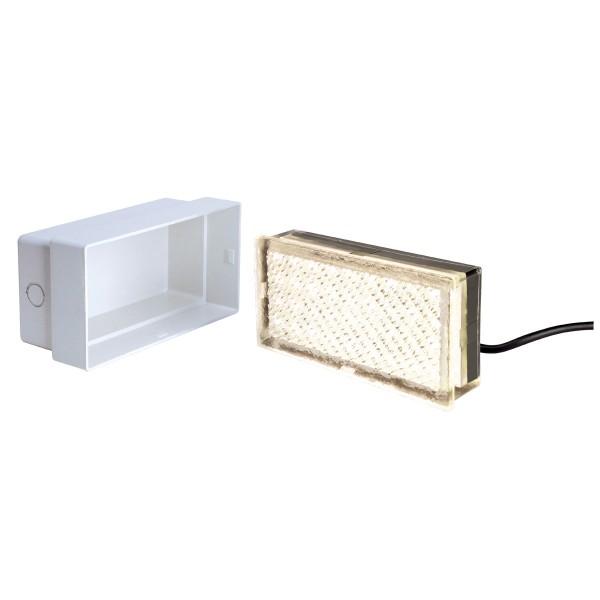 LED FLIESE, Bodeneinbauleuchte, LED, 3000K, IP67, L/B/H 20/10/4 cm, 3,5W