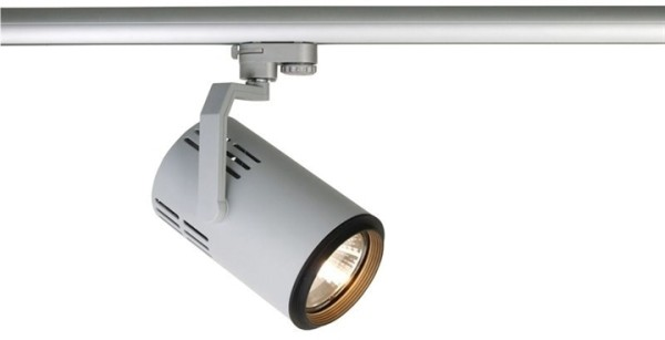 Kapego Schienensystem 3-Phasen 230V, Costura PAR 30, exklusive Leuchtmittel, Silber-matt, E27