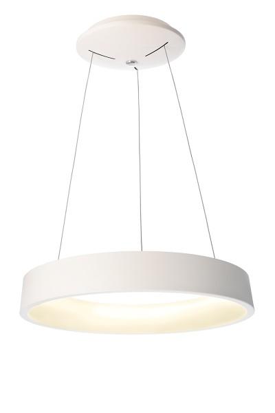 Deko-Light Pendelleuchte, Sculptoris 60, Aluminium, weiß matt, Warmweiß, 150°, 40W, 230V