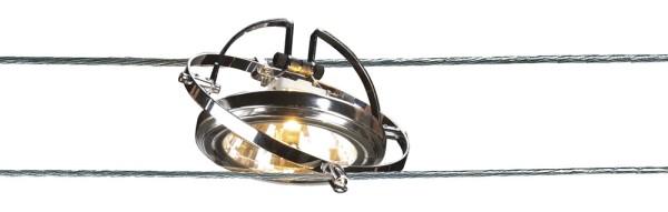 SEILLEUCHTE, für Niedervolt-Seilsystem, QR111, chrom, max. 50W