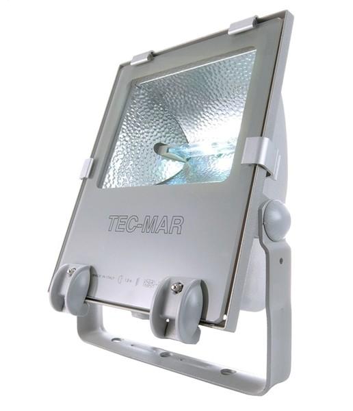 Tec Mar Boden- / Wand- / Deckenleuchte, Tec I 150, inklusive Leuchtmittel, Neutralweiß, Silber-matt