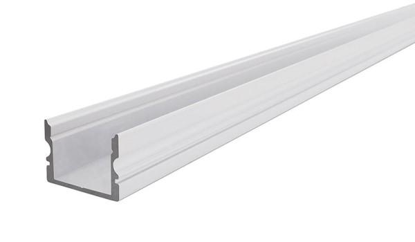 Reprofil Profil, U-Profil hoch AU-02-15, Aluminium, Weiß-matt, 2000mm