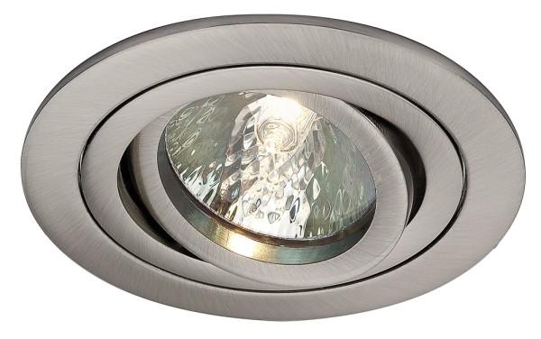 TRIA 2, Einbauleuchte, rund, nickel satiniert, QR-C51, max.35W