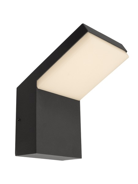 Deko-Light Wandaufbauleuchte, Tucanae, Aluminium Druckguss, dunkelgrau, Warmweiß, 110°, 16W, 230V