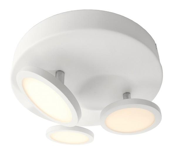 KapegoLED Deckenaufbauleuchte, Dubhe III, inklusive Leuchtmittel, Warmweiß, IP20