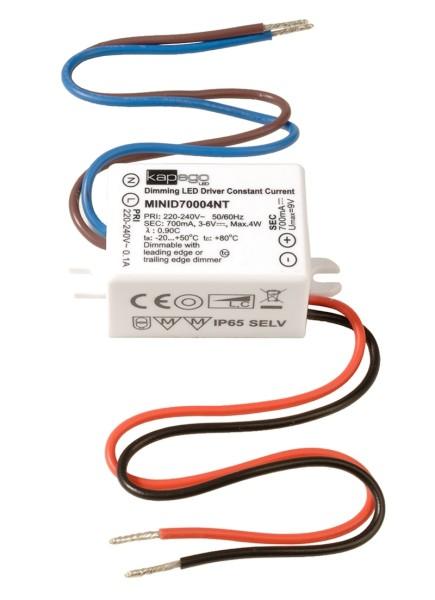 Deko-Light Netzgerät, MINI, D70004NT, Kunststoff, Weiß, 4W, 3-6V, 700mA, 53x27mm
