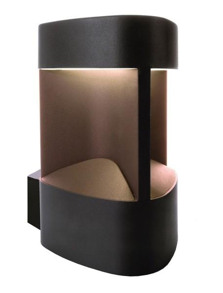 Deko-Light Wandaufbauleuchte, Trila, Aluminium Druckguss, anthrazit, Warmweiß, 6W, 230V, 128x159mm
