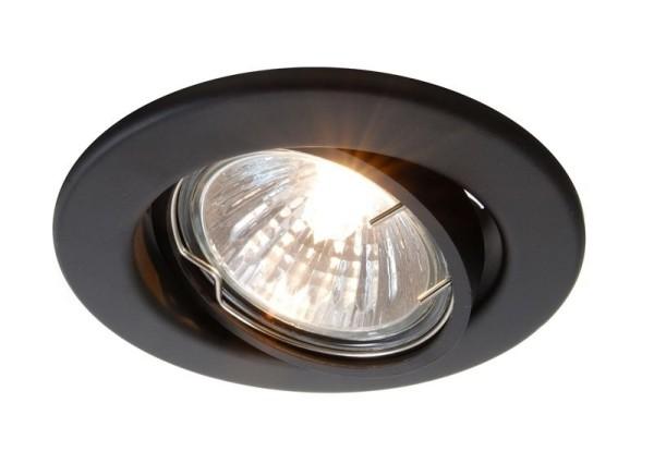 Deko-Light Deckeneinbauring, Metall, schwarz matt, 50W, 12V