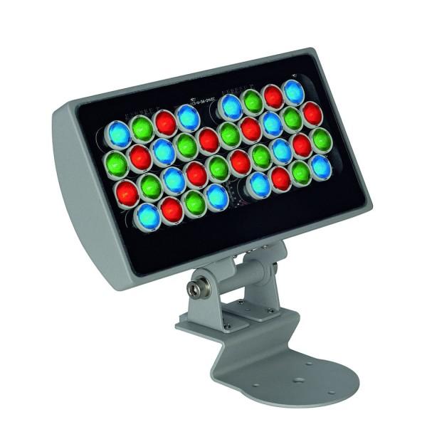 GALEN LED PANEL 24V, RGB, silbergrau, 36x1W, IP65