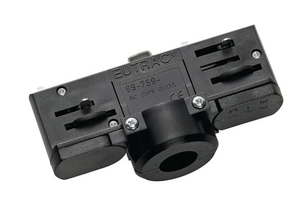 PENDELLEUCHTENADAPTER, für Hochvolt-Stromschiene 3Phasen, schwarz, inkl. Montagezubehör