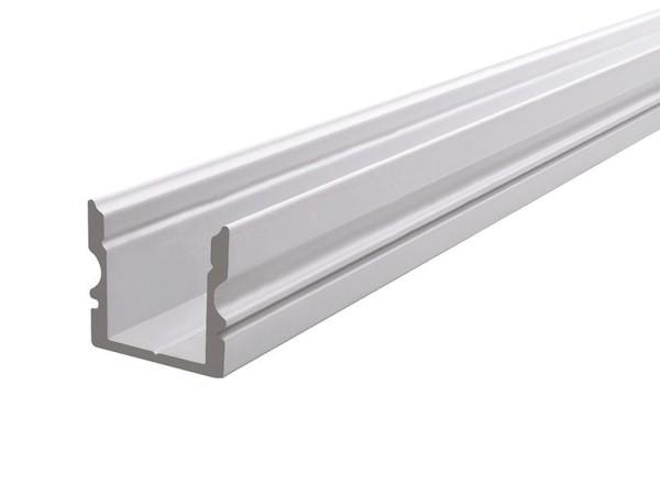 Reprofil Profil, U-Profil hoch AU-02-10, Aluminium, Weiß-matt, 2000mm