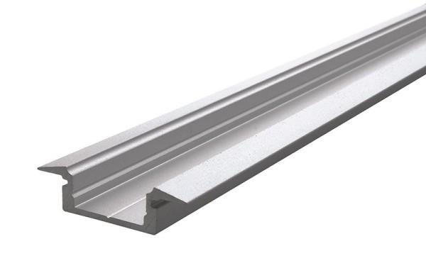 Reprofil Profil, T-Profil flach ET-01-10, Aluminium, Silber-matt eloxiert, 2000mm