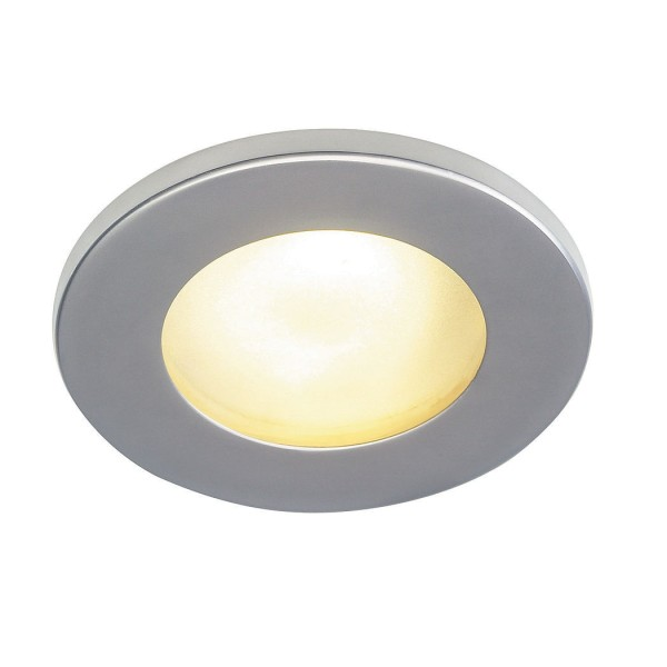DOLIX OUT MR16 Downlight, rund, silbergrau, max. 35W
