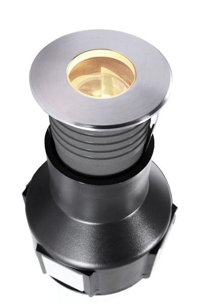 KapegoLED Bodeneinbauleuchte, Easy Round V WWA, inklusive Leuchtmittel, asymmetrisch, Warmweiß