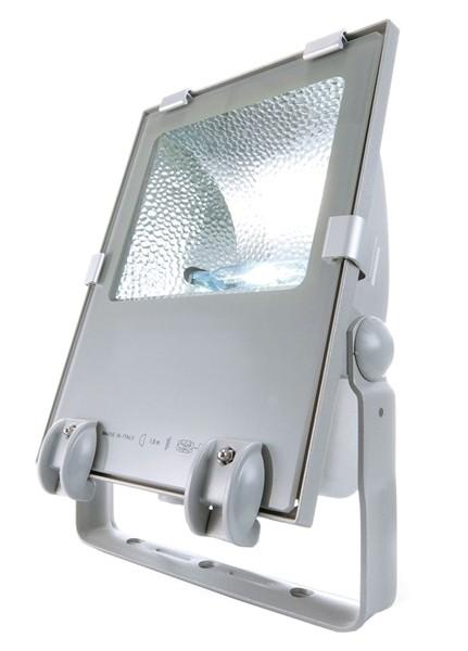 Tec Mar Boden- / Wand- / Deckenleuchte, Tec II 150, inklusive Leuchtmittel, Neutralweiß, Silber-matt