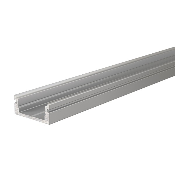 Reprofil, U-Profil flach AU-01-10 für LED Stripes bis 11,3 mm, Silber-matt, eloxiert, 1000 mm