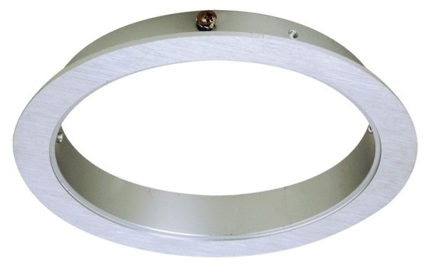 Deko-Light Deckeneinbauleuchte, Epart Grundrahmen 1er rund, Silber, gebürstet