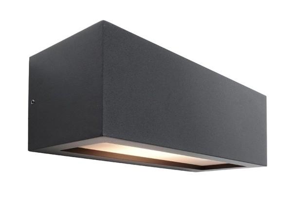 Deko-Light Wandaufbauleuchte, Rilongo A, Aluminium Druckguss, anthrazit, 18W, 230V, 250x110mm