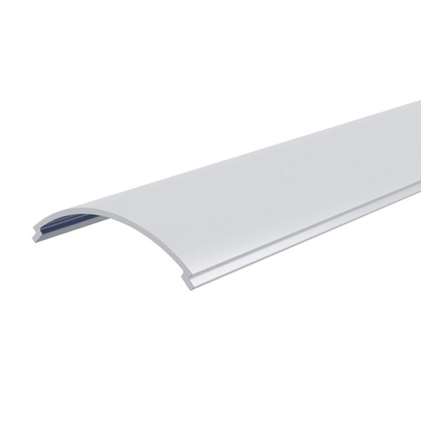 Reprofil, Abdeckung R-03-12, Kunststoff, milchig 40% Transmission, Länge: 2000 mm