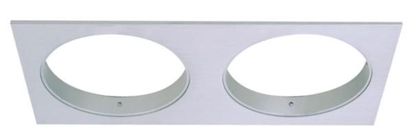 Deko-Light Deckeneinbauleuchte, Epart Grundrahmen 2er quadratisch, Silber, gebürstet