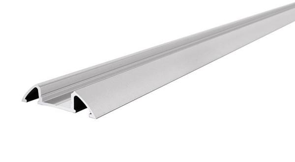 Reprofil Profil, Unterbau-Profil flach AM-01-10, Aluminium, Silber-matt eloxiert, 2000mm