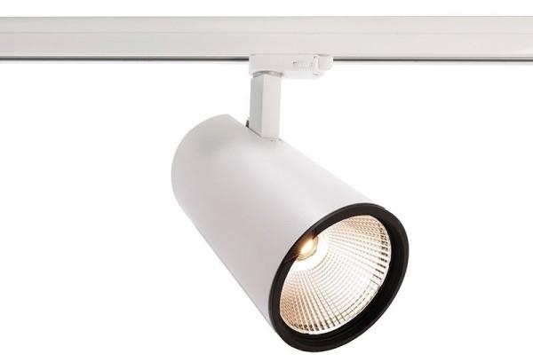 Deko-Light Schienensystem 3-Phasen 230V, Luna 40, Aluminium Druckguss, weiß mattiert, Warmweiß, 40°