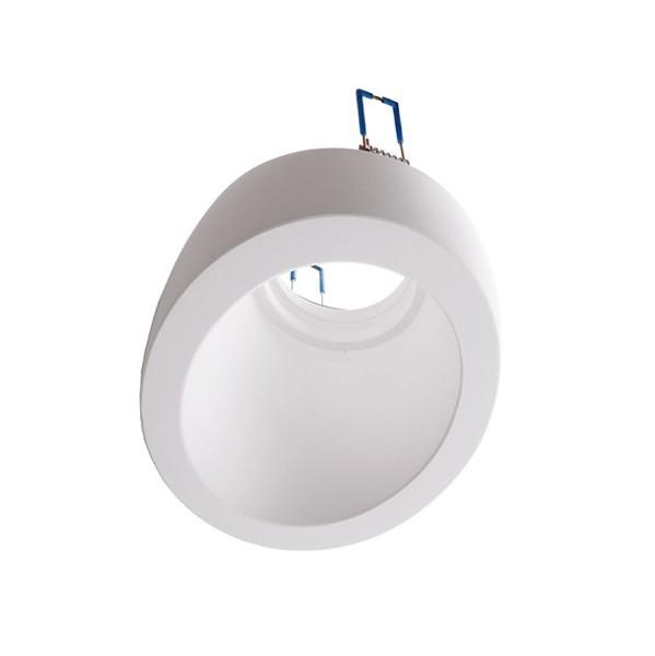 Kapego Deckeneinbauring, exklusive Leuchtmittel, Weiß, spannungskonstant, 12V AC/DC, GU5.3 / MR16