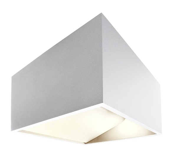 Deko-Light Wandaufbauleuchte, Dado, Aluminium Druckguss, weiß, Warmweiß, 140 °, 5W, 230V, 480mA
