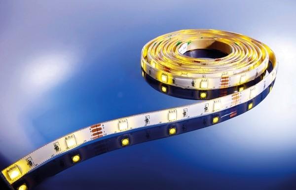 Flexibler LED Stripe IP 33, 12V, 5 m Rolle, warmweiß