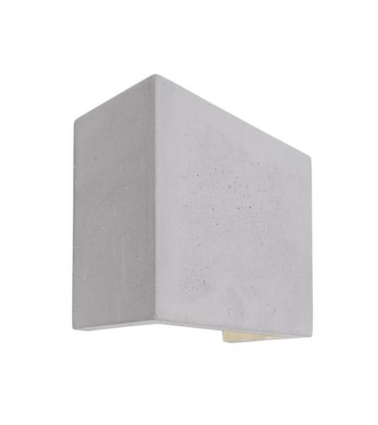Deko-Light Wandaufbauleuchte, Quinta II, Beton, grau, Warmweiß, 6W, 230V, 125x60mm