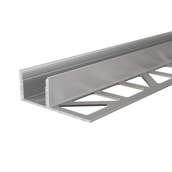 Reprofil, Fliesen-Profil EL-03-12 für LED Stripes bis 13,3 mm, Silber-matt, Aluminium natur