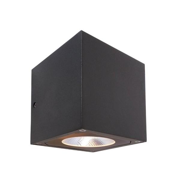 Deko-Light Wandaufbauleuchte, Cubodo II Double DG, Aluminium Druckguss, dunkelgrau, Warmweiß, 14W