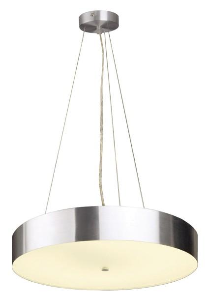 ISTU, Pendelleuchte, T29-R, rund, aluminium gebürstet, Glas satiniert, max. 72 W, inkl. Rosette