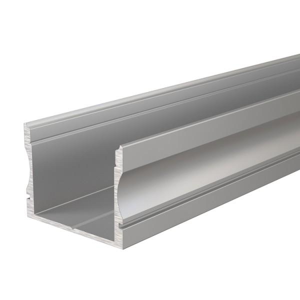 Reprofil, U-Profil hoch AU-02-20 für LED Stripes bis 21,3 mm, Silber-matt, eloxiert, 2000 mm
