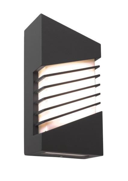 Deko-Light Wandaufbauleuchte, Corvi, Aluminium Druckguss, dunkelgrau lackiert, Warmweiß, 140°, 10W